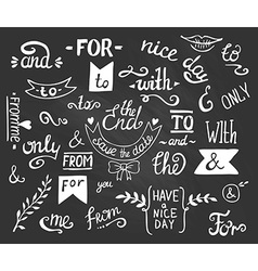 hand drawn ampersands and catchwords The with from vector image vector image