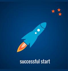 Rocket launch background vector