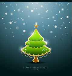 Christmas Green tree Greeting Card vector image vector image