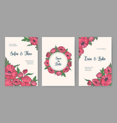 collection of beautiful templates for save the vector image vector image