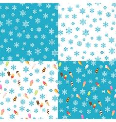 icecream patterns vector image vector image