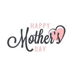 mothers day vintage label background vector image vector image