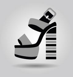 single women platform high heel shoe with striped vector image