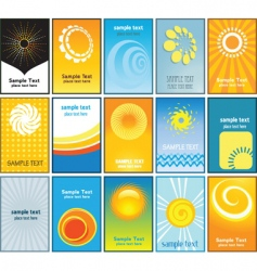 summer themed business cards vector image vector image