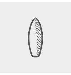 Surfboard sketch icon vector image