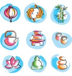 zen logos vector image vector image