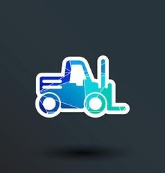 forklift icon button logo symbol concept vector image