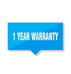 1 year warranty price tag vector image