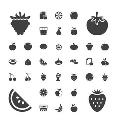 37 fruit icons vector