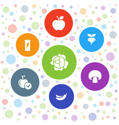7 diet icons vector image