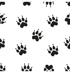 Animal - birds and mammals footprints silhouettes vector
