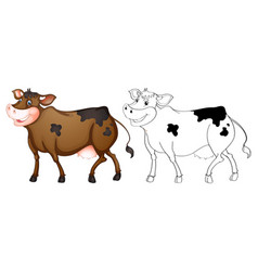 Animal outline for happy cow vector