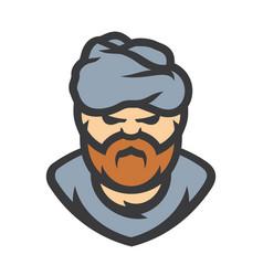 arabic man cartoon vector image