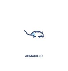 Armadillo concept 2 colored icon simple line vector
