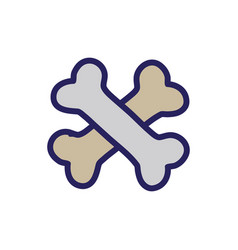 Bones dangerous alert symbol of death vector