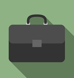 Briefcase with long shadow vector