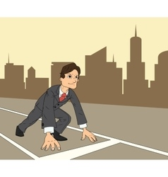 Businessman starting the race to success 3 vector