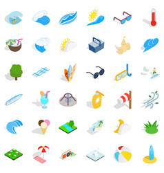 clean water icons set isometric style vector image