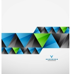 Colorful modern geometric triangles background vector image