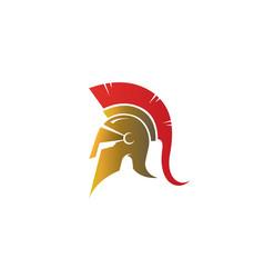 Creative spartan helmet logo vector