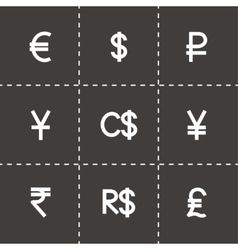 Currency icon set vector image