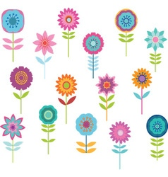Cute Colorful Flower vector image