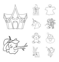 design of tale and character symbol vector image