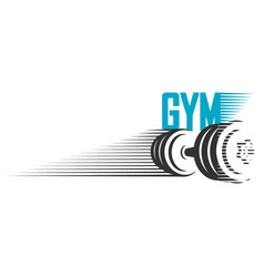 Dumbbell for gym design vector
