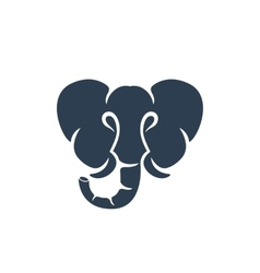 Elephant logo on white background - stock vector