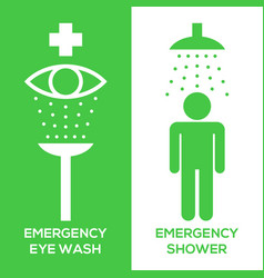 emergency eye wash and emergency shower vector image