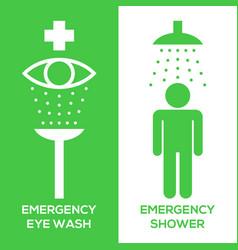 Emergency eye wash and emergency shower vector