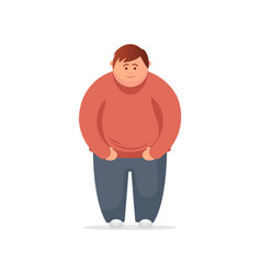 Fat man flat vector