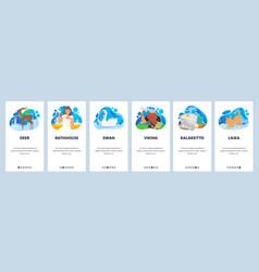 finland website and mobile app onboarding screens vector image