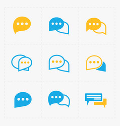 Flat colorful speech bubble icons vector