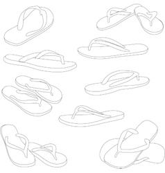 Flip flops silhouette vector