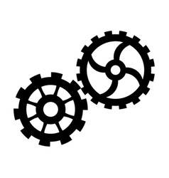 gears team work cooperation wheels cogs vector image