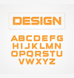 Geometric minimalist technological design font vector