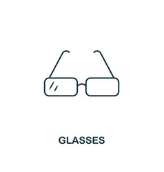 glasses outline icon creative design from school vector image
