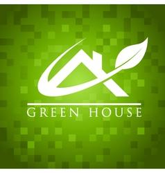 Green house roicon vector