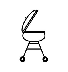 Grill bbq food picnic outline vector