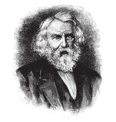 henry w longfellow vintage vector image