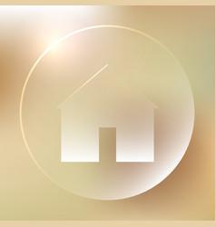 Home glassy icon home glassy icon vector