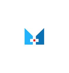 hospital cross sign logo vector image