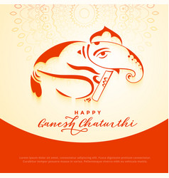 Lord ganesha creative design for ganesh chaturthi vector