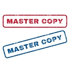 Master Copy Rubber Stamps vector