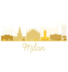 Milan City skyline golden silhouette vector