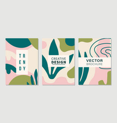 modern abstractions covers templates set vector image