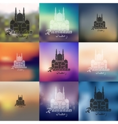 mosque icon on blurred background vector image