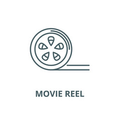movie reel line icon linear concept vector image