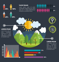 nature infographic template icons vector image